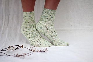 Apple Blossom Socks by Helen Stewart